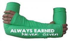 Always earned never given - arm warmers - Gymnastics gift - Starting at $24.99