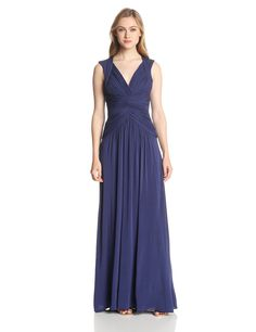 Sophia V-Neck Evening Gown by BCBGMAXAZRIA