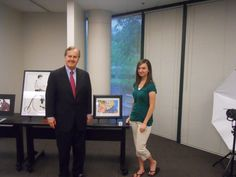Congressman Pittenger and Aherel Kaseorg, a finalist in the 2013 Congressional Art Competition.