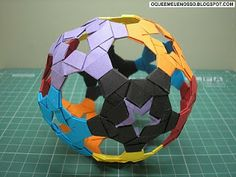 O QUE É MEU É NOSSO: Origami Tira de Papel (Paper Strip) - Esfera 94 (Sphere 94) - Heinz Strobl