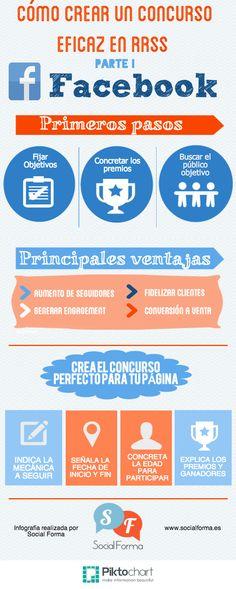 Cómo crear un concurso eficaz en FaceBook #infografia #infographic #socialmedia