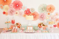 Rosetones de papel para decorar