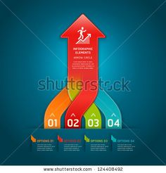 Colorful modern arrow circle number options banner. Vector illustration. can be used for workflow layout, diagram, web design, infographics.