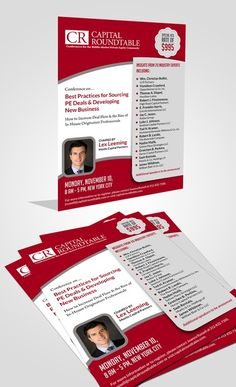 The Capital Roundtable -- Deal Sourcing Flyer by GrApHiCaL SOUL