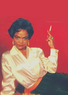 Eartha Kitt - In whatever pose, she reeked of beautiful sexiness and she knew it. Loved her and her approach to life.