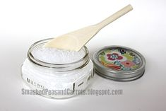 I've found a couple of easy-but-cool recipes for making bath salts, sugar scrubs and face masks...