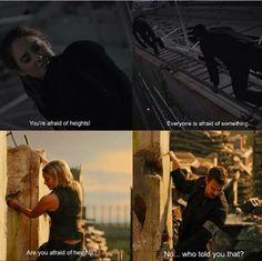 This makes me happy. Divergent Film, Divergent Jokes, Divergent Hunger Games, Divergent Fandom, Divergent Insurgent Allegiant, Tris And Tobias, Tris And Four, Book Tv, Book Series