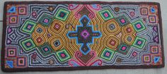 Guatemalan hand-hooked rug