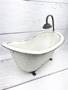 The Small Vintage Bath Tub size is x x the Shower head is above the tub. Bath Tub, Clawfoot Bathtub, Small Tub, Front Door Decor, Shower Heads, Home Decor Inspiration, Farmhouse Decor, Florals