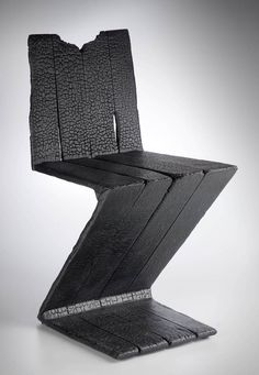 Maarten Baas . zig zag chair, smoke series