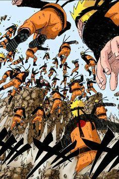 Naruto Uzumaki kage bushi no jutsu Multiclonage
