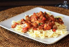 Sausage and Eggplant Sauce for Pasta - Diana Rattray