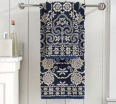 Indah Jaquard Towels #potterybarn