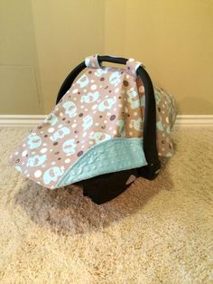 Baby Car Seat Cover/Canopy with Strap Covers by KayloBabyBoutique, $35.00