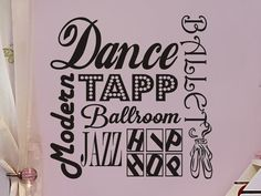 Dance Wall Decal Subway Art Girls Bedroom Wall by vgwalldecals, $17.00