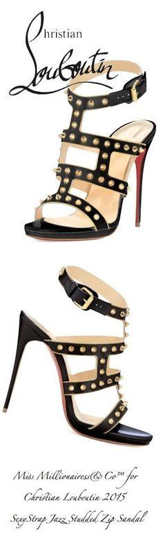 Christian Louboutin 2015 SexyStrap Jazz Studded Zip Sandal | christian louboutin