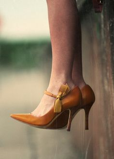 vintage shoes with silk bow ties...