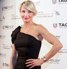 Jennifer Garner wearing a Cartier Tank Americaine watch ...