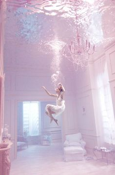 pastel grand home swimming figure underwater chandelier Underwater Wedding, Photoshop Actions, Art Studies, Pink Aesthetic, Ultra Violet, Pastel Pink, Skirts, Marion Cotillard, Photography