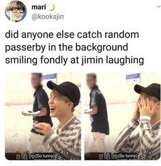 It's because Jimin's laugh brings ultimate joy Bts Bangtan Boy, Bts Boys, Bts Jimin, Bts Memes Hilarious, Funny, K Pop, Jikook, Steven Universe, Pokerface