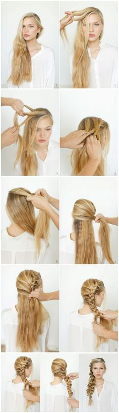 romantic diy hairstyles side French braid #french #braid #hairstyles #beautiful