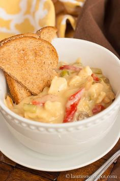 My family used to make this all the time growing up. Really quick and easy weeknight meal. CHICKEN A LA KING! Delicious with toast : )
