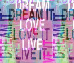 DREAM IT! fabric by karismithdesigns on Spoonflower - custom fabric