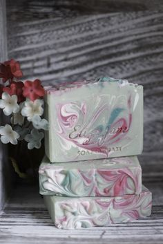 Peace Rose luxury soap bar by Eliza Jane Soap Company ~ Winter 2016