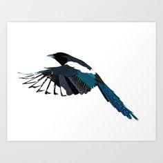 Magpie Art Print by Kaye Sedgwick - $18.00
