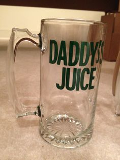 Daddy's Sippy Cup Beer Mug Fathers Day by BlessYourHeartGlass, $15.00