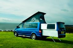 Doubleback van - very interesting idea. Drives like a van, but the back pops out to give double the space and the top pops up to allow standing room. 36mpg with a TDI engine.