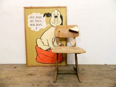 Kinderzimmermöbel - Alter Kinderstuhl....Patina auf Holz! - ein Designerstück von mr-and-mrs-who bei DaWanda