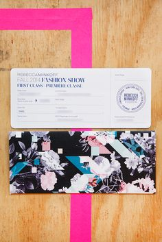 The BEST NY Fashion Week Invites #refinery29  http://www.refinery29.com/61966#slide6  Now boarding rows one through three for Rebecca Minkoff.