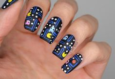 NAILS | BCD NAIL ART CHALLENGE WEEK 7 - Going Retro with Old School Pac-Man!