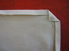 sewing 101: embroidered mitered napkins – Design*Sponge