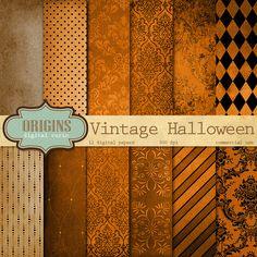 Vintage Halloween Digital Paper by Origins Digital Curio on Creative Market