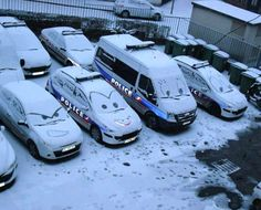 Winter at the Police department.