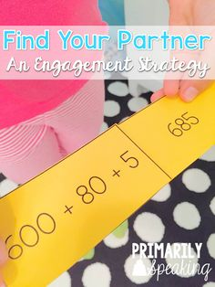 Find Your Partner is a great way to engage your students.  Great post on how to play and link to expanded form Find Your Partner freebie