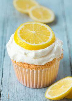 Lemon Angel Food Cupcakes by Cooking Classy