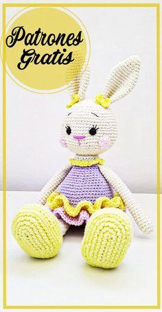 Crochet Rabbit Free Pattern, Crochet Giraffe Pattern, Crochet Animal Patterns, Crochet Bunny, Stuffed Animal Patterns, Crochet Patterns Amigurumi, Amigurumi Doll, Crochet Animals, Crochet Dolls