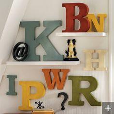 antiqued metal letters and symbols grandin road