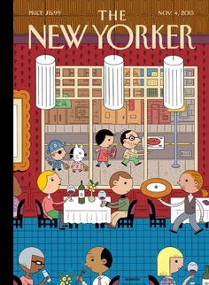 """A look at this week's cover, """"Fast Food,"""" by Ivan Brunetti, and a slideshow of covers of people dining out from our archives"""