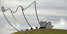 Estas esculturas metálicas de Nueva Zelanda desafían a la realidad