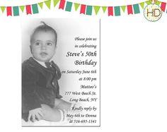 Photo Birthday Invitation 50th Birthday Party by HDInvitations, $16.00