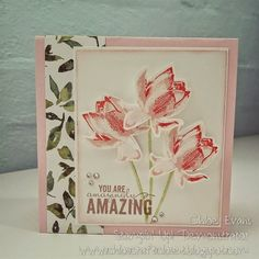 Image result for cards made using stampin up calypso coral ink