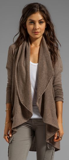 Autumn Cashmere Convertible Flare Tunic/Drape Cardigan via Revolve Clothing. - Looking for Hair Extensions to refresh your hair look instantly? KINGHAIR® only focus on premium quality remy clip in hair. Visit - - for more details. Look Fashion, Fashion Outfits, Womens Fashion, Fall Fashion, Mode Style, Style Me, Fall Outfits, Casual Outfits, Casual Wear