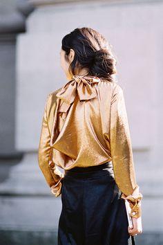 Kamilya Kuspan, before Chloé, Paris, March 2015 | Vanessa Jackman | Paris Fashion Week AW 2015