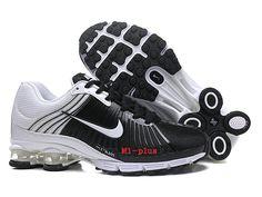 competitive price 0096e 4e6c1 Nouveau Nike Air Shox nz Pas Cher Coussin De Sport Basketball Homme Noir  blanc rouge-