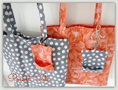 (9) Name: 'Sewing : Fold away pocket tote by Lillyblossom