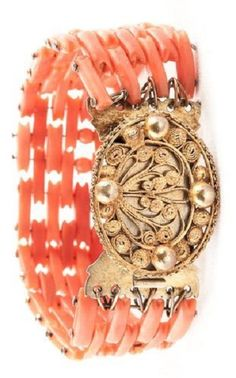 Victorian Antique Coral Bracelet - I have a very similar one